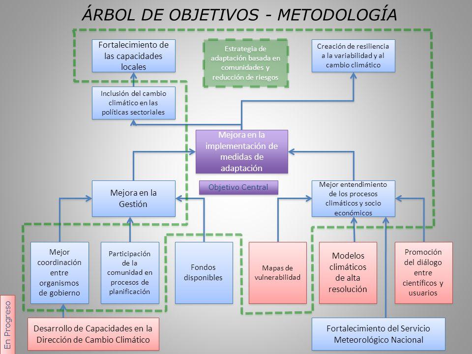ÁRBOL DE OBJETIVOS - METODOLOGÍA