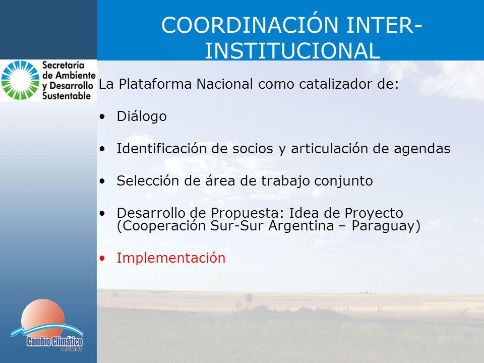 COORDINACIÓN INTER-INSTITUCIONAL