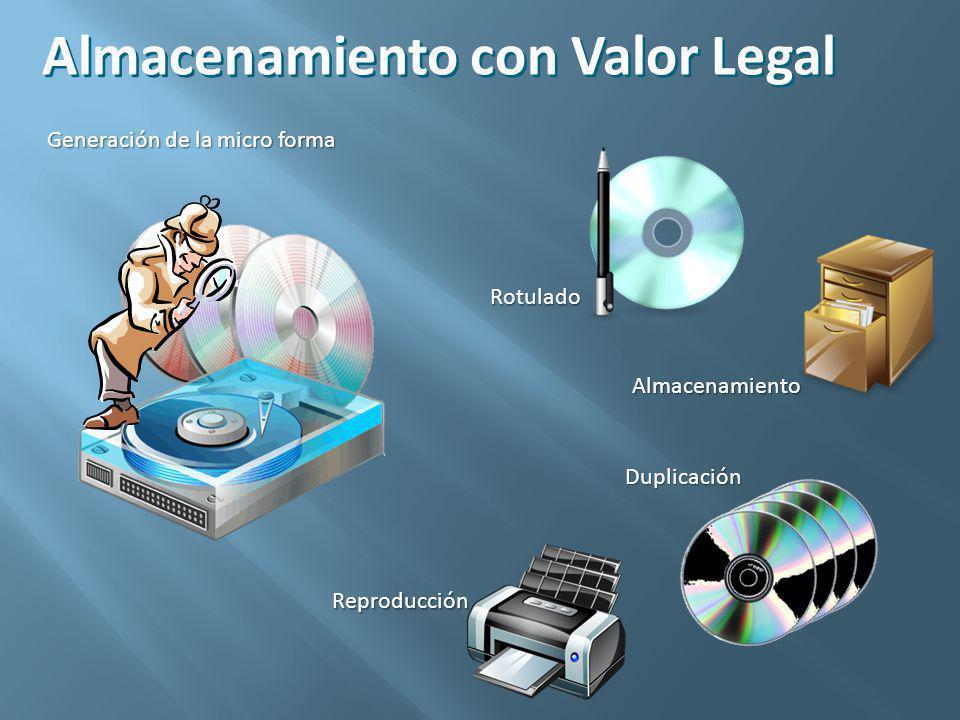 Almacenamiento con Valor Legal