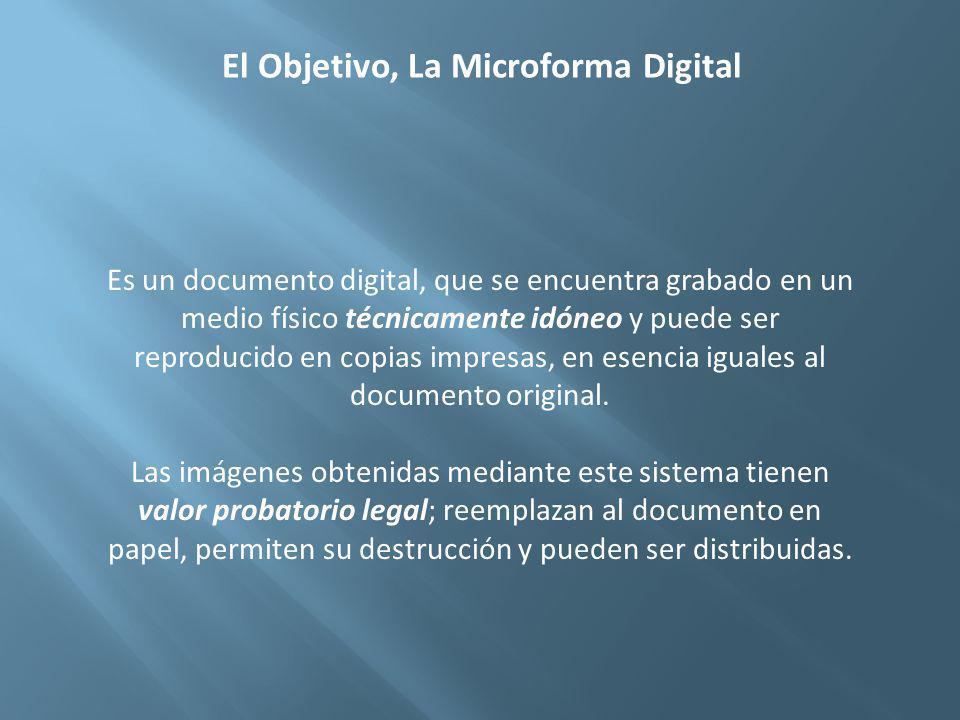 El Objetivo, La Microforma Digital