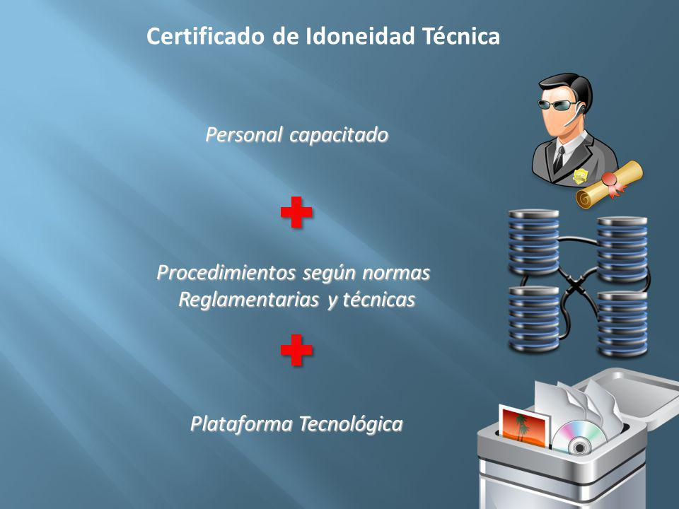 Certificado de Idoneidad Técnica