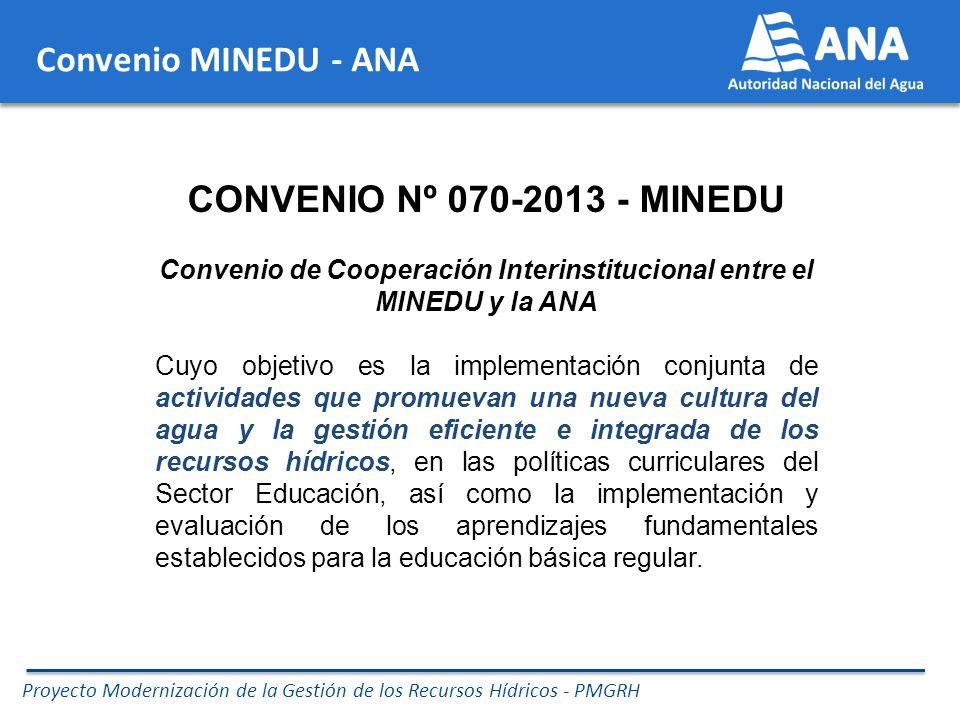 Convenio de Cooperación Interinstitucional entre el