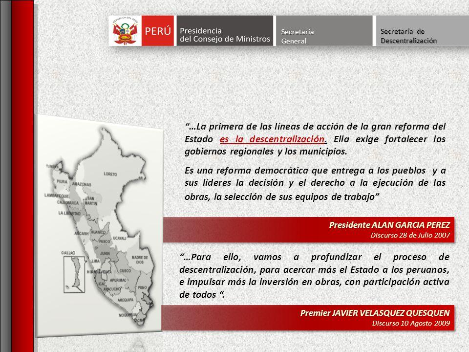 Secretaría General. Secretaría de Descentralización.