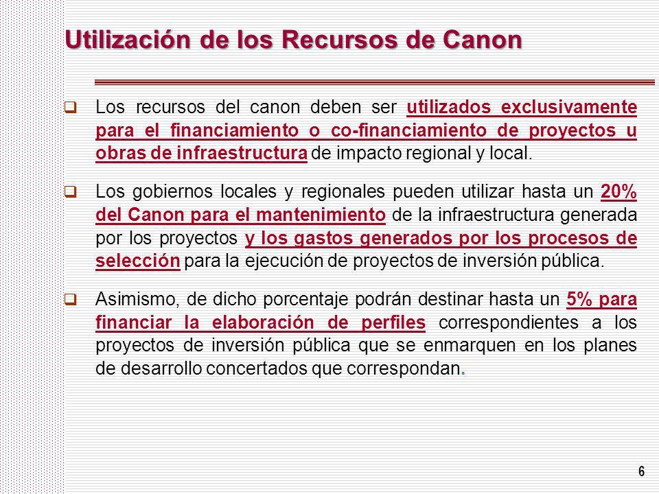 Utilización de los Recursos de Canon