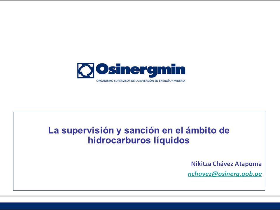 La supervisión y sanción en el ámbito de hidrocarburos líquidos