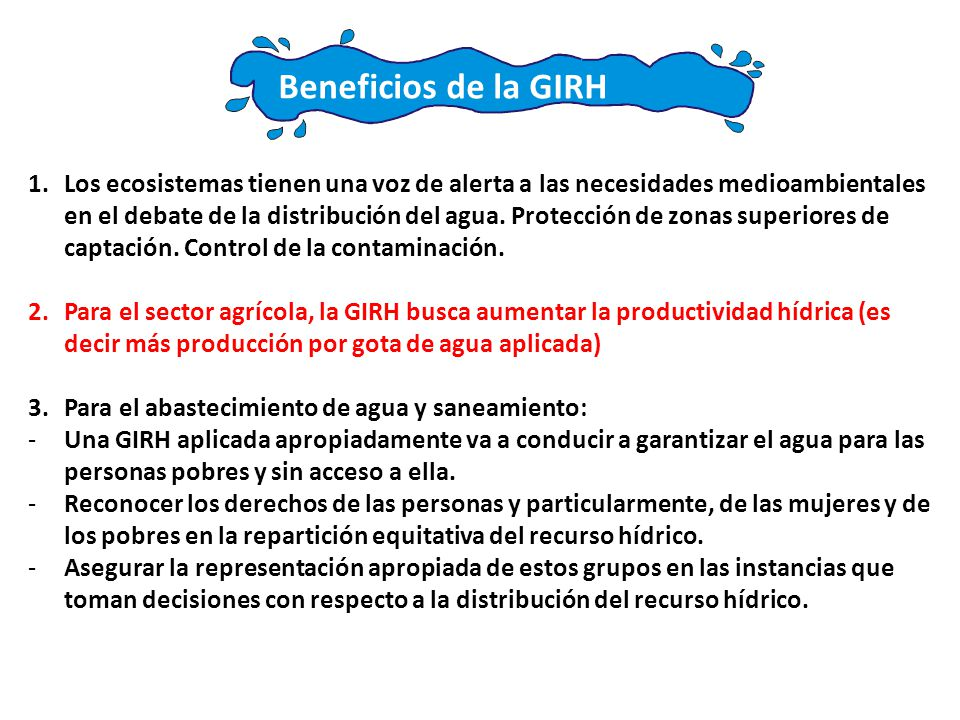 Beneficios de la GIRH