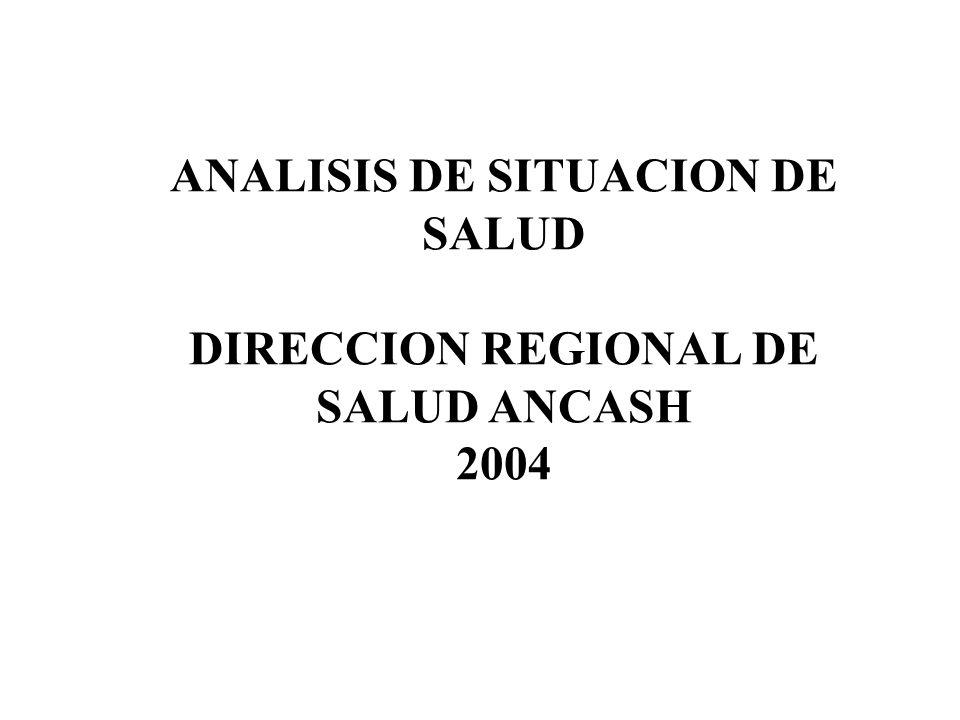 ANALISIS DE SITUACION DE SALUD DIRECCION REGIONAL DE SALUD ANCASH