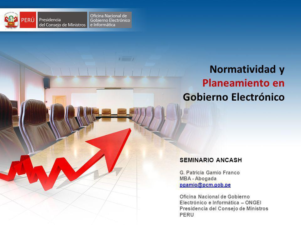 Planeamiento en Gobierno Electrónico
