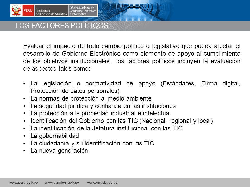 LOS FACTORES POLÍTICOS