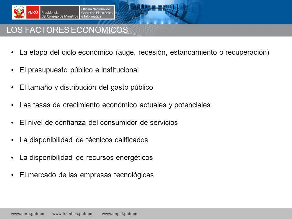 LOS FACTORES ECONOMICOS
