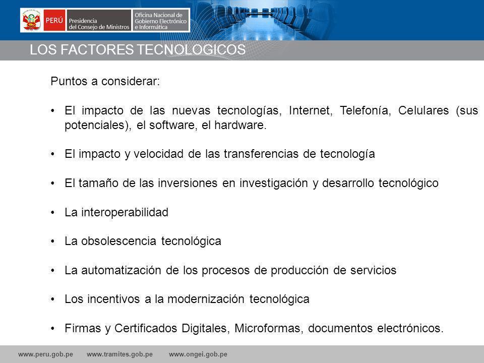 LOS FACTORES TECNOLOGICOS