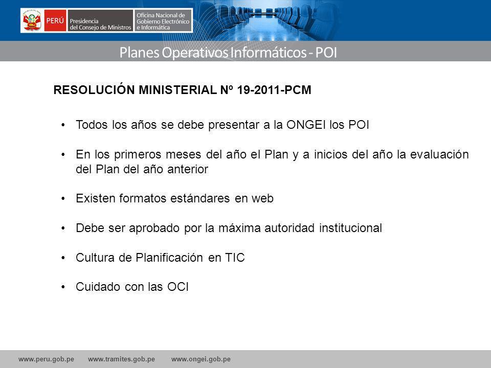 Planes Operativos Informáticos - POI
