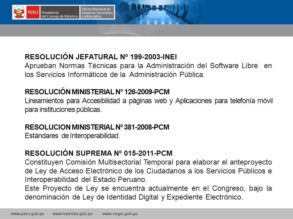 RESOLUCIÓN JEFATURAL Nº 199-2003-INEI