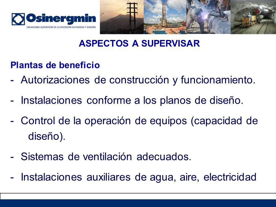Autorizaciones de construcción y funcionamiento.