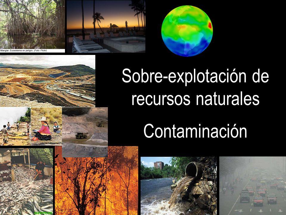 Sobre-explotación de recursos naturales