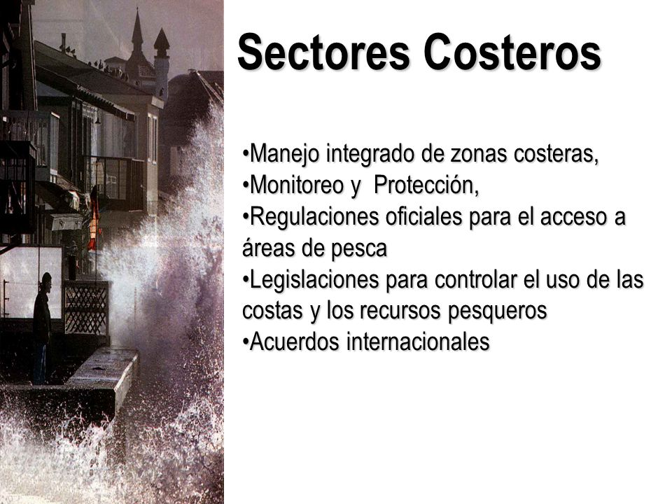 Sectores Costeros Manejo integrado de zonas costeras,
