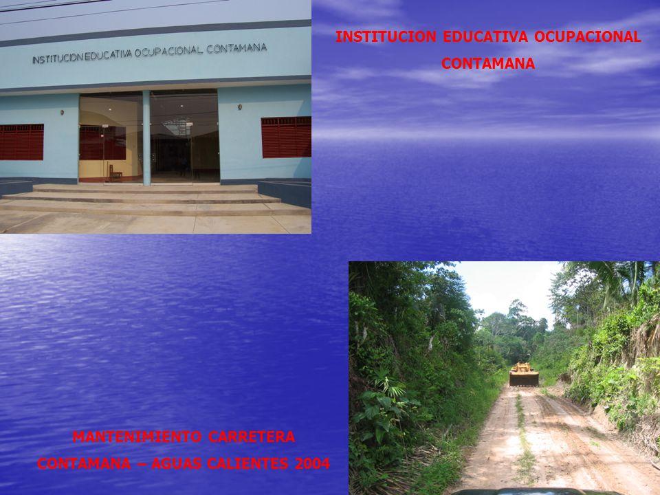 INSTITUCION EDUCATIVA OCUPACIONAL CONTAMANA
