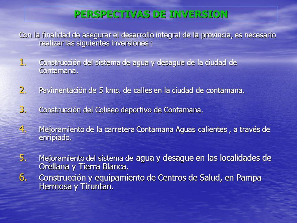 PERSPECTIVAS DE INVERSION