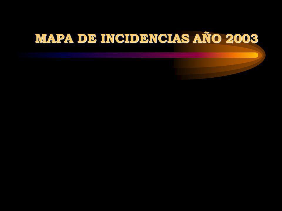 MAPA DE INCIDENCIAS AÑO 2003