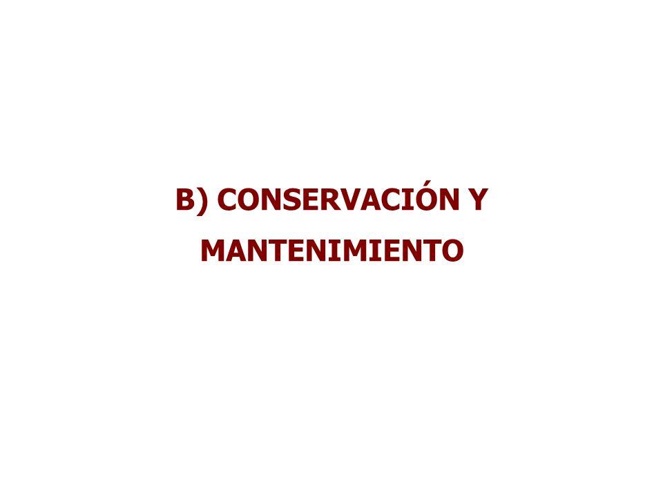 B) CONSERVACIÓN Y MANTENIMIENTO