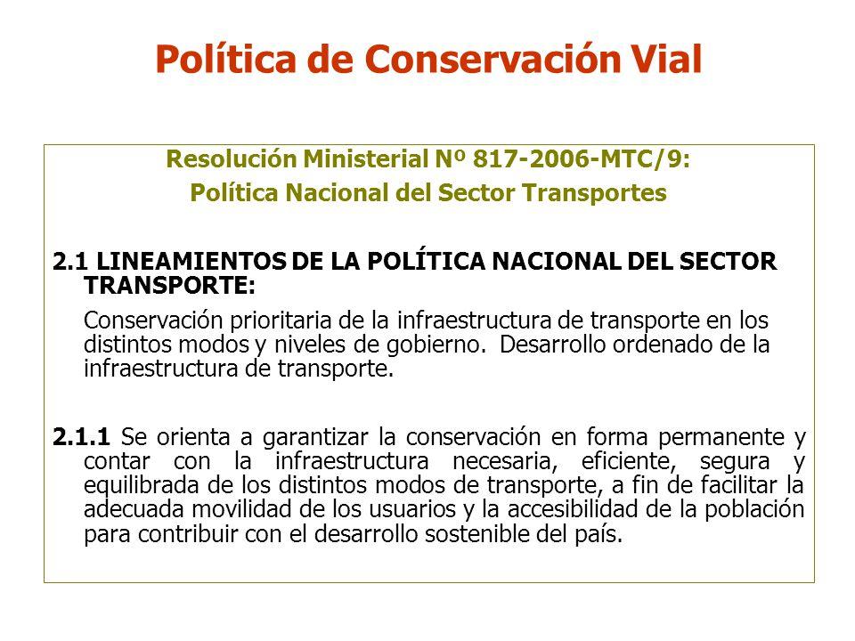 Política de Conservación Vial