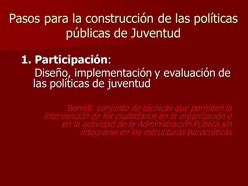 Pasos para la construcción de las políticas públicas de Juventud