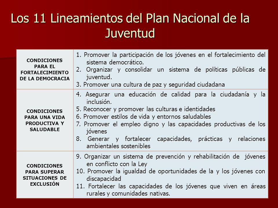 Los 11 Lineamientos del Plan Nacional de la Juventud