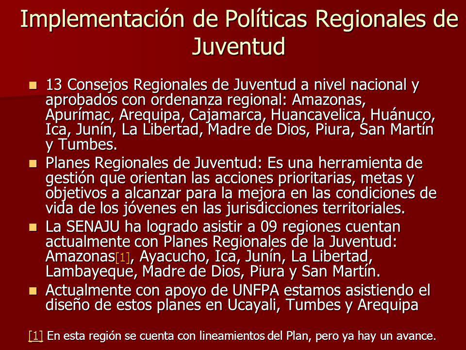 Implementación de Políticas Regionales de Juventud