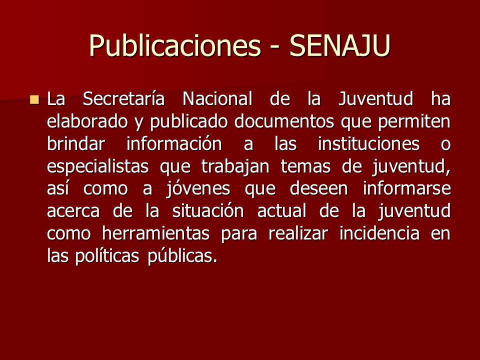 Publicaciones - SENAJU