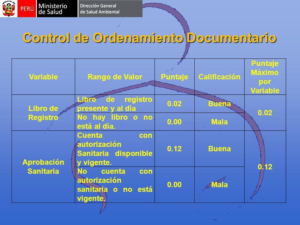 Control de Ordenamiento Documentario