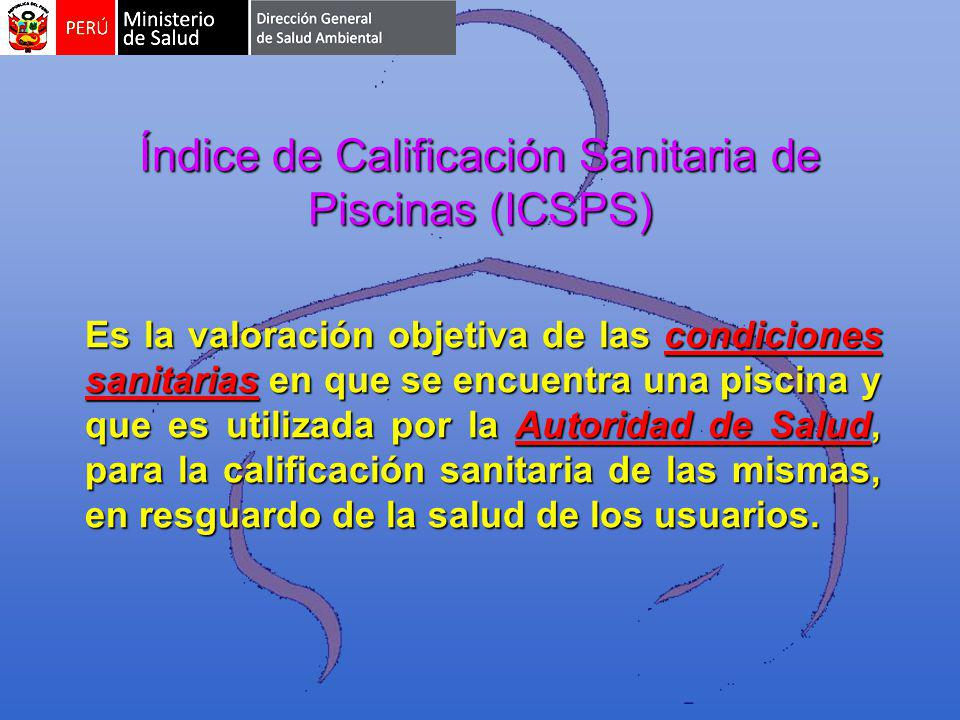 Índice de Calificación Sanitaria de Piscinas (ICSPS)
