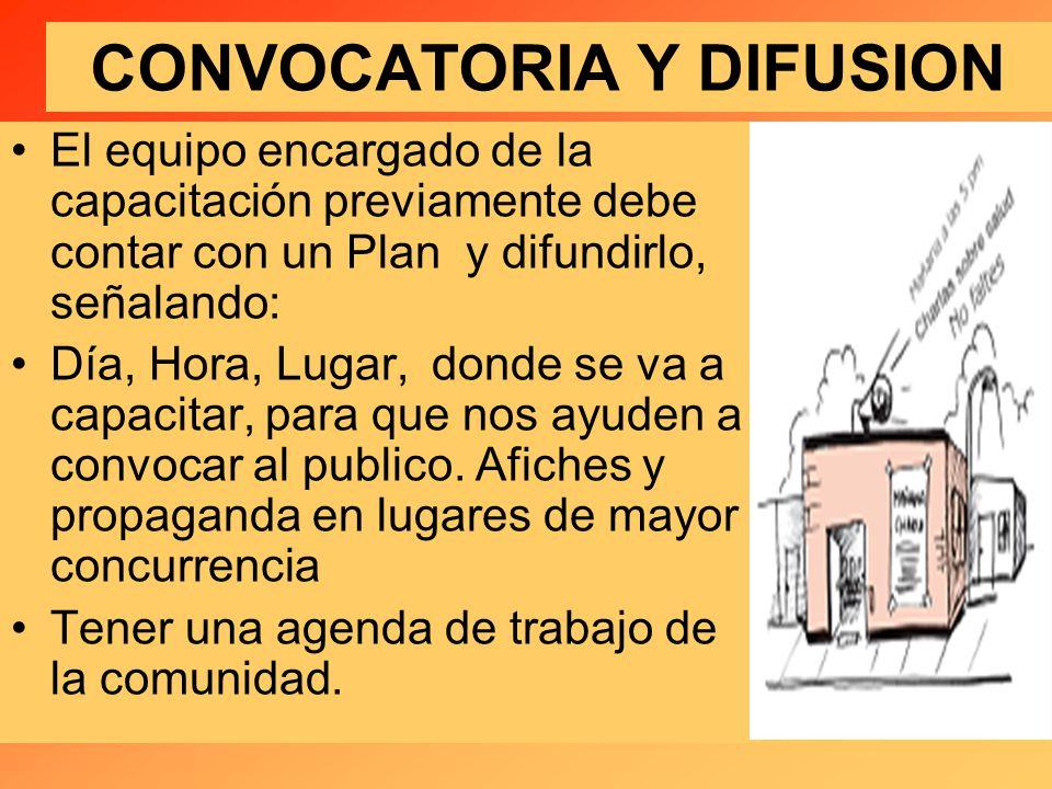 CONVOCATORIA Y DIFUSION