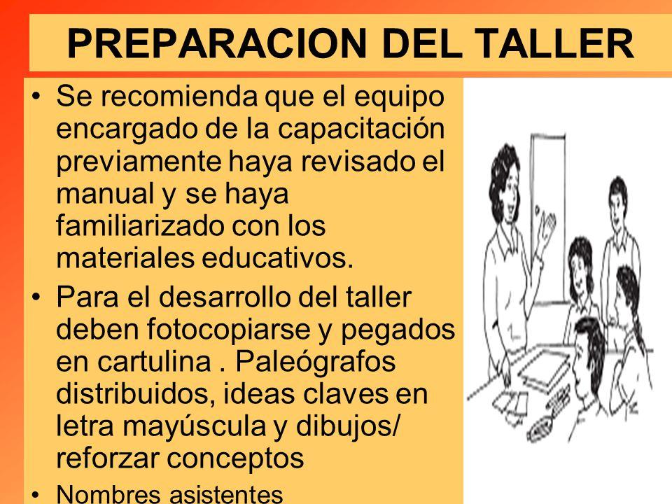 PREPARACION DEL TALLER
