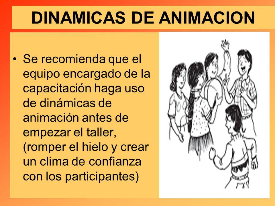 DINAMICAS DE ANIMACION