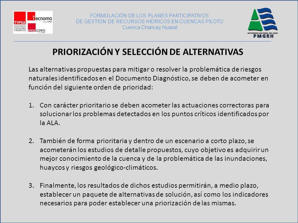 Priorización y selección de alternativas