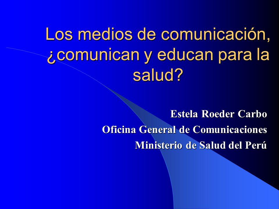 Los medios de comunicación, ¿comunican y educan para la salud