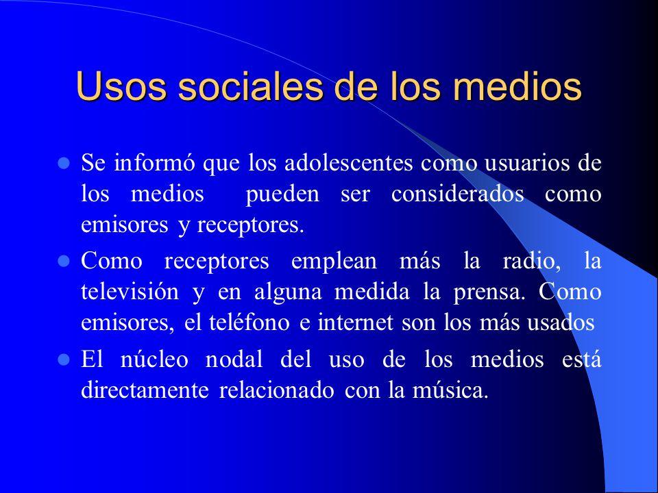 Usos sociales de los medios