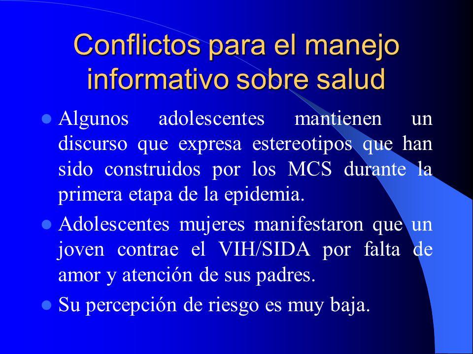 Conflictos para el manejo informativo sobre salud