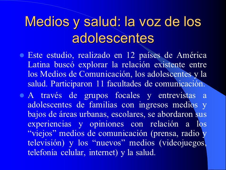 Medios y salud: la voz de los adolescentes