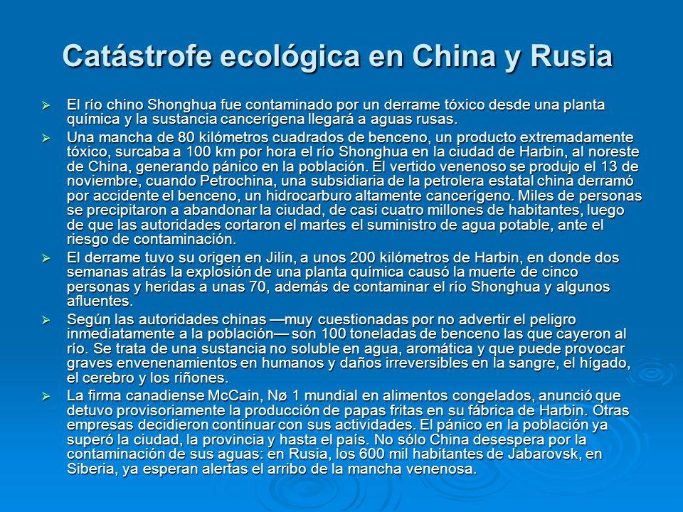 Catástrofe ecológica en China y Rusia