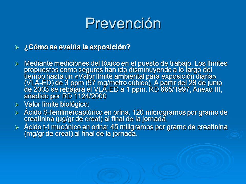 Prevención ¿Cómo se evalúa la exposición