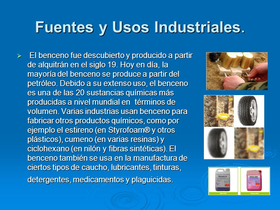 Fuentes y Usos Industriales.