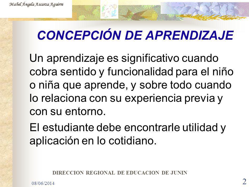 CONCEPCIÓN DE APRENDIZAJE