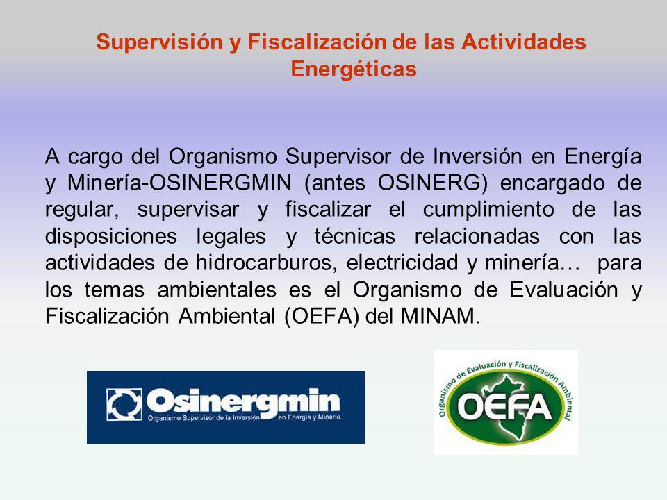 Supervisión y Fiscalización de las Actividades Energéticas
