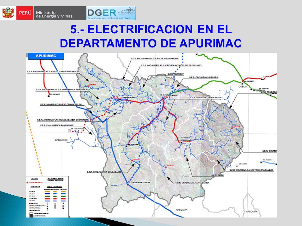 5.- ELECTRIFICACION EN EL DEPARTAMENTO DE APURIMAC
