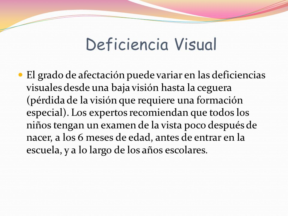Deficiencia Visual