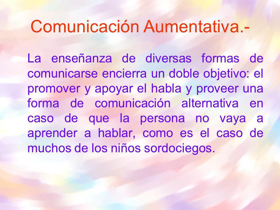 Comunicación Aumentativa.-
