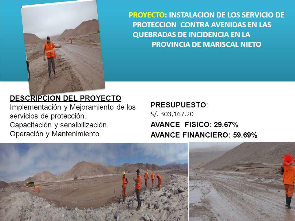 PROYECTO: INSTALACION DE LOS SERVICIO DE