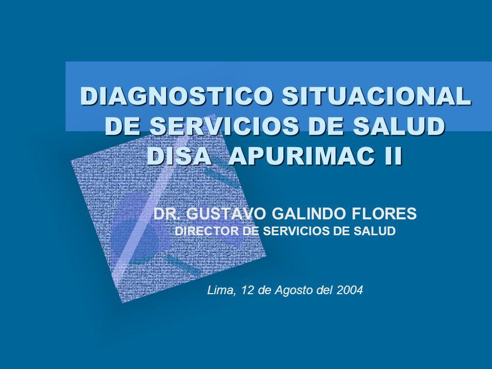 DIAGNOSTICO SITUACIONAL DE SERVICIOS DE SALUD DISA APURIMAC II