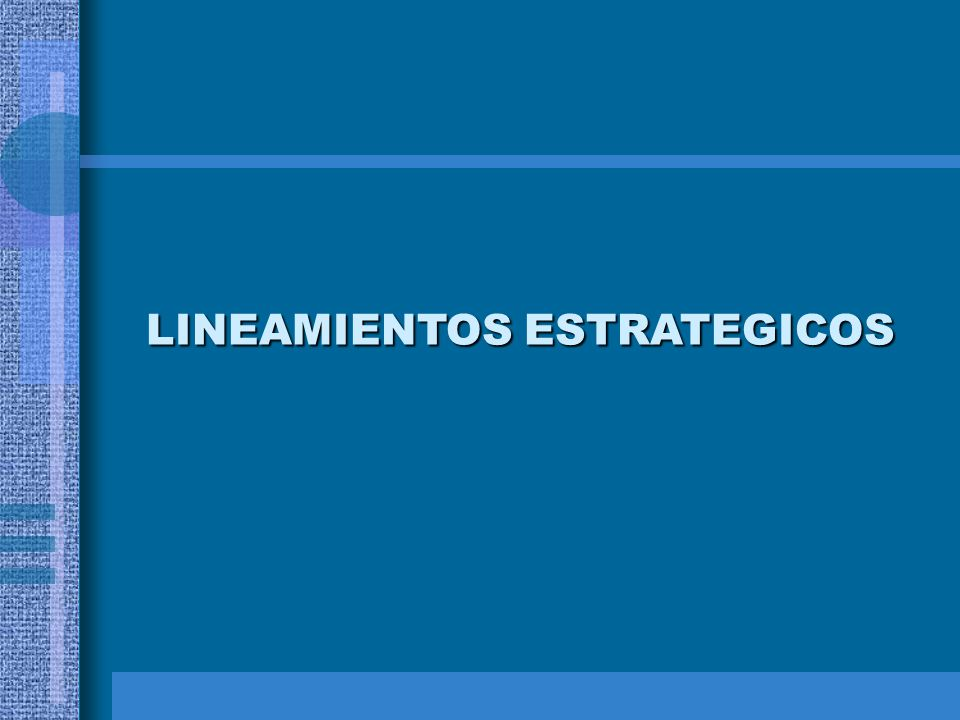 LINEAMIENTOS ESTRATEGICOS
